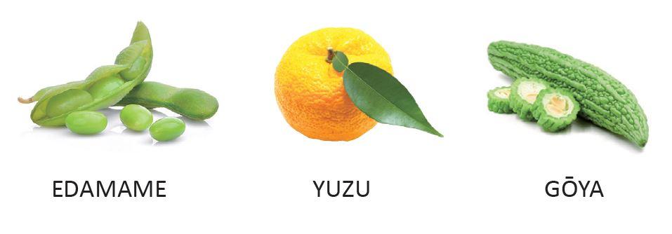 Sommerzutaten: Edamame, Yuzu, Goya