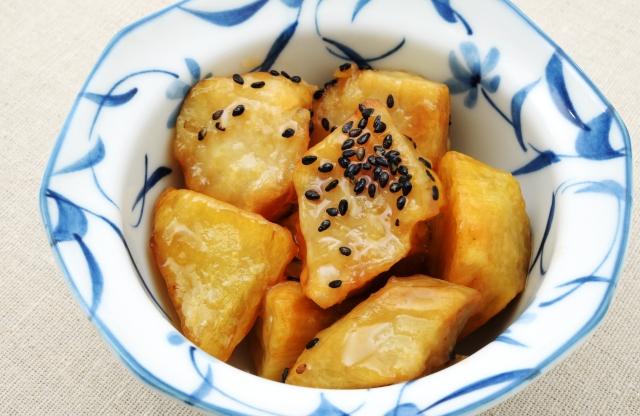 daigaku imo: karamellisierte Süßkartoffeln
