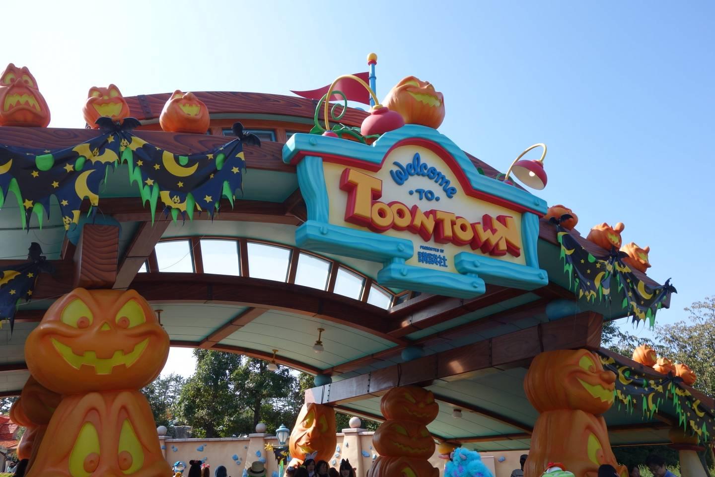 Halloween Dekorationen in Tokyo Disneyland