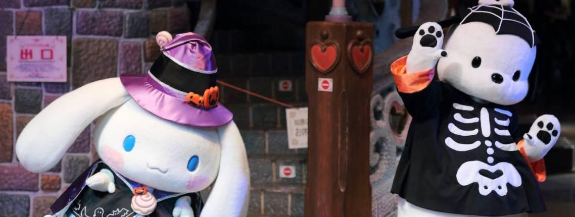 zu Halloween verkleidete Maskottchen in Japan