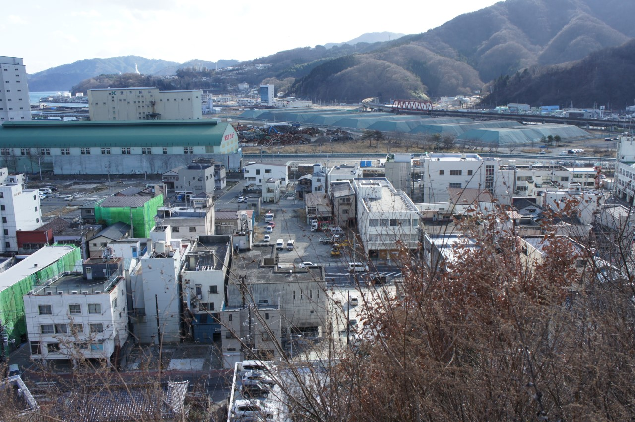 Stadtansicht Kamaishi 2011