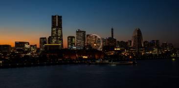 Yokohama Bay Area bei Nacht