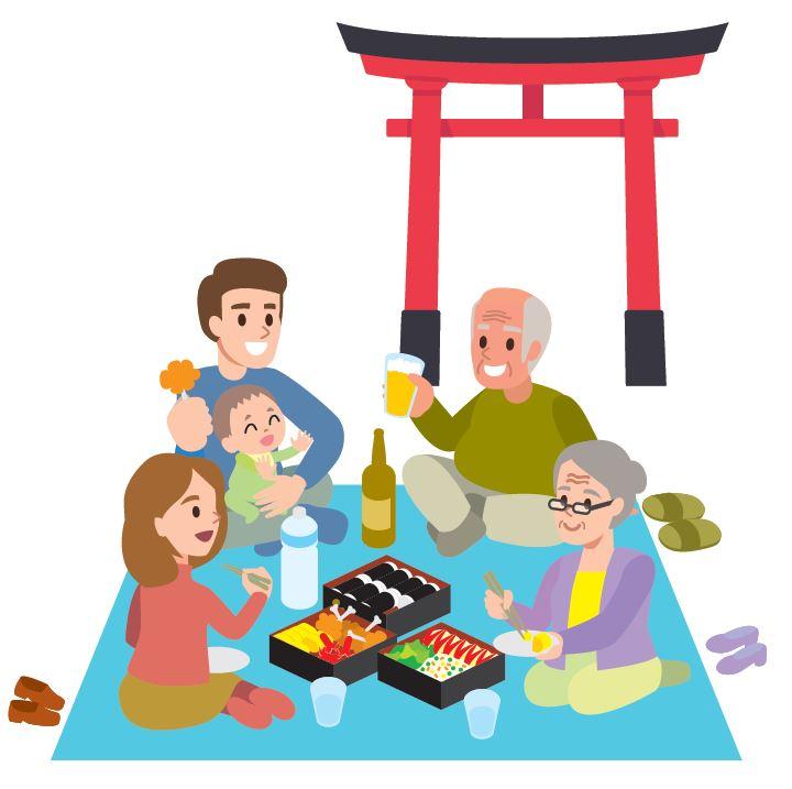 Bei Schreinen oder Tempeln essen