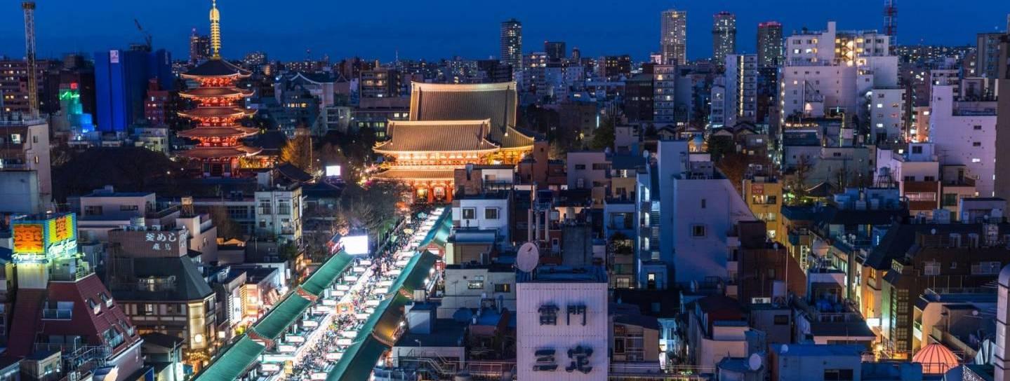 Skyline von Tokyo bei Nacht