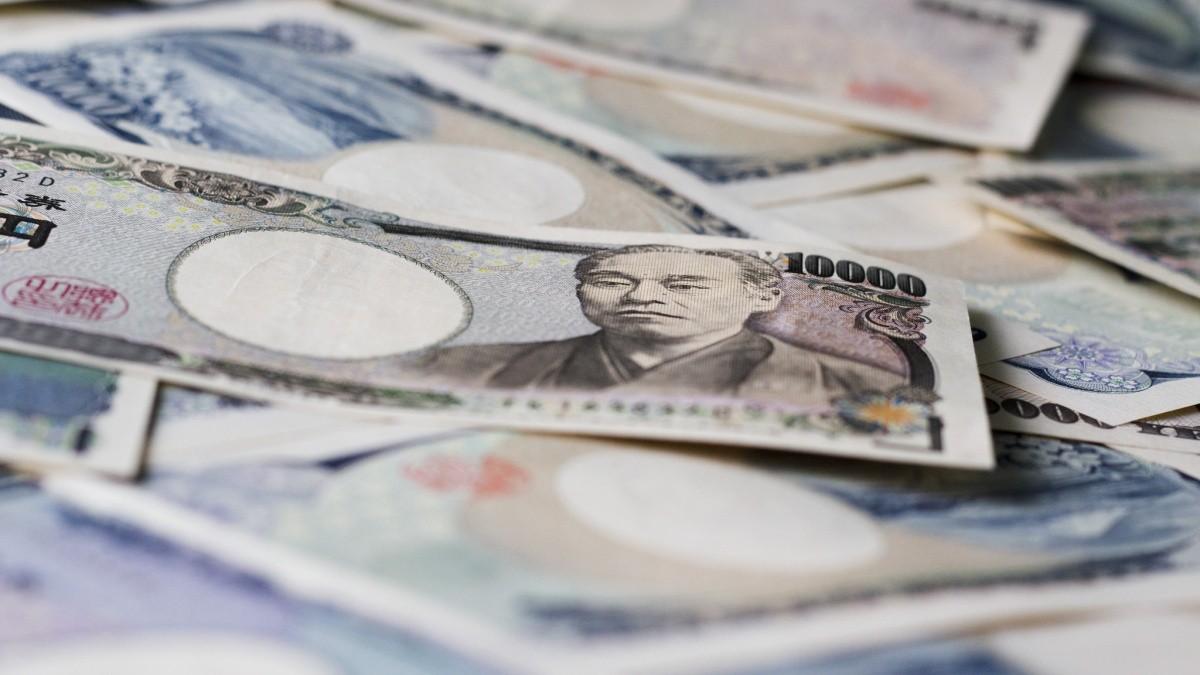 ausgebreitete Yen-Scheine