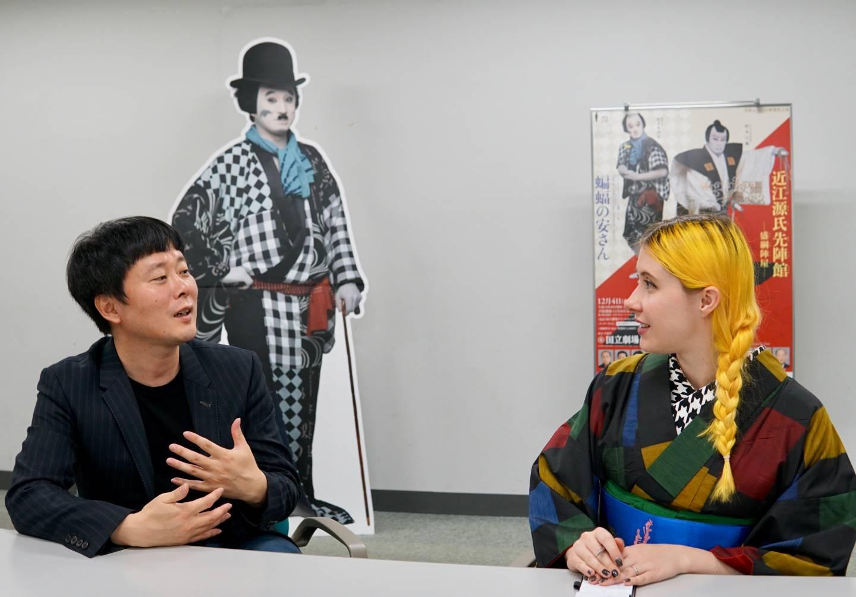 Ono Hiruyuki und Anji Salz bei einem Interview
