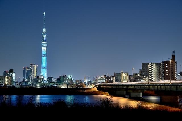 Skyline tokyos mit skytree
