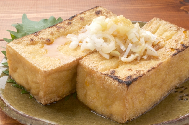 atsuage: frittierter Tofu