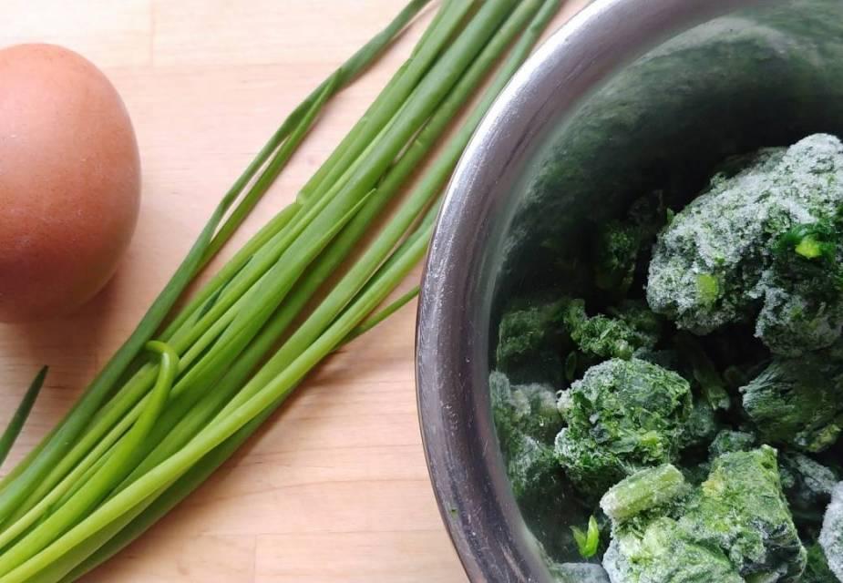 Zutaten für Zosui mit Spinat und Ei