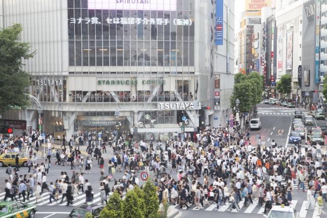 Shibuya-Kreuzung von oben
