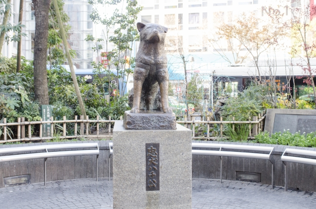 Hachikō-Statue in Shibuya