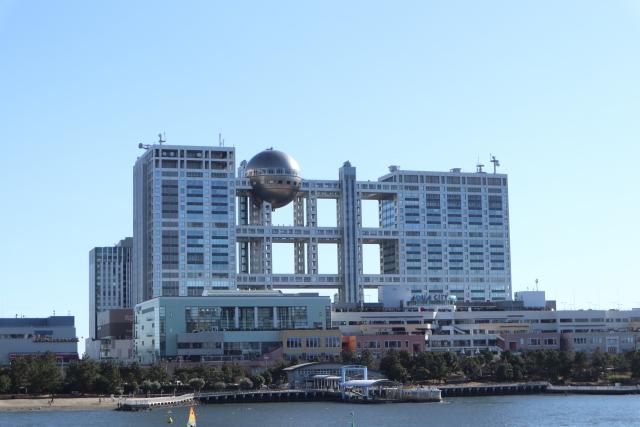 Fuji TV Hauptquartier auf Odaiba