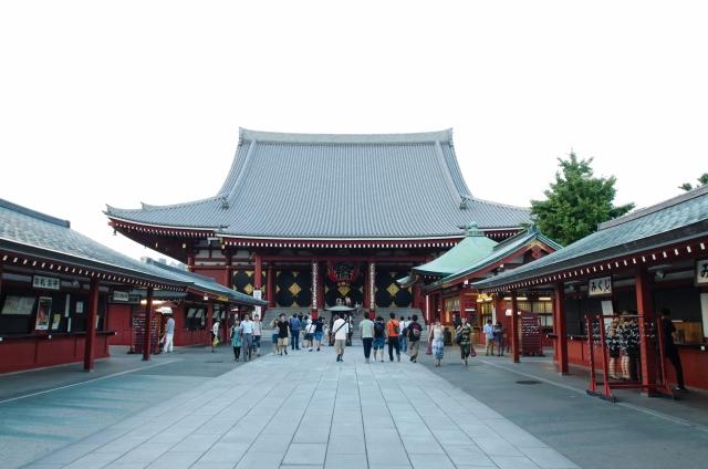 Blick aus den Sensoji-Tempel