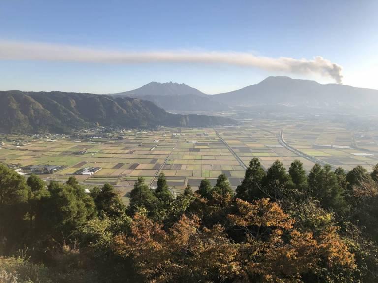 Aussicht vom Shiro-yama aus