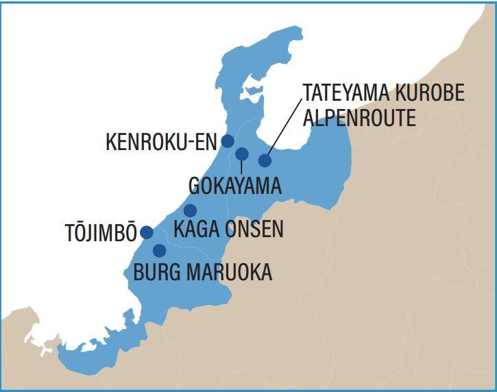 Karte von Hokuriku