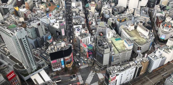 Ansicht Tokyo von oben