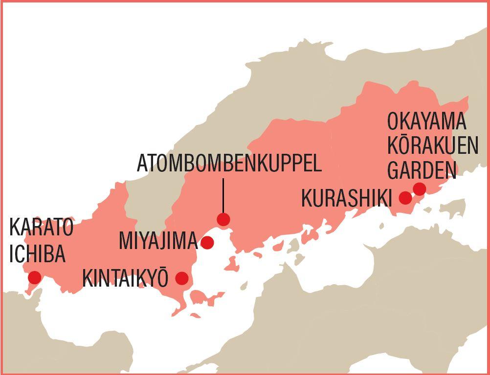 Karte von Setouchi