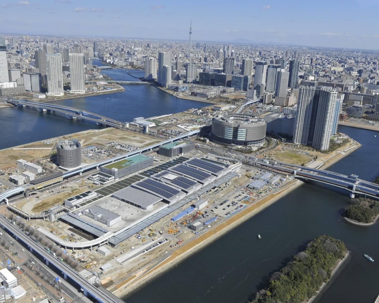 Toyosu-Fischmarkt von oben