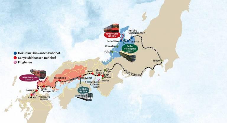 JR WEST Bahnnetz Karte