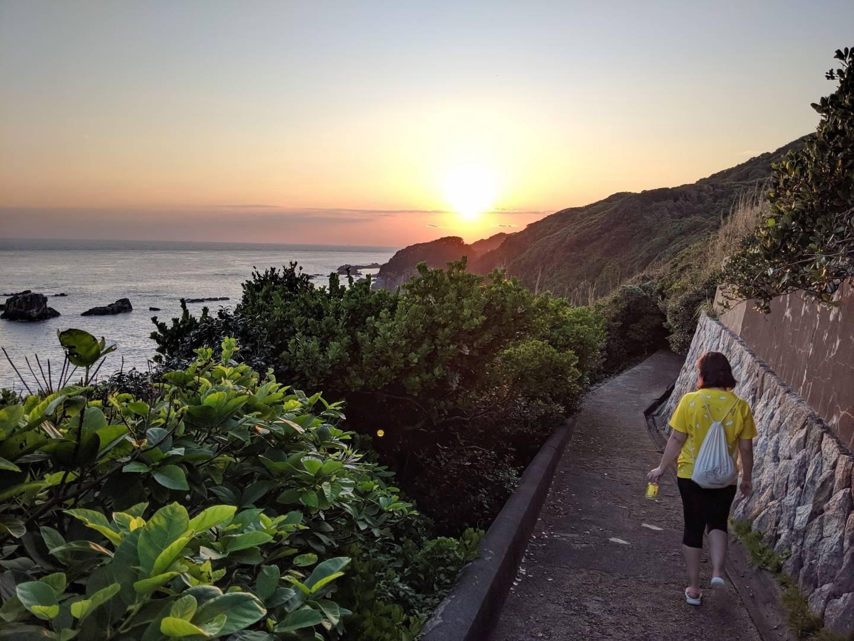 Sonnenuntergang am Kap Ashizuri