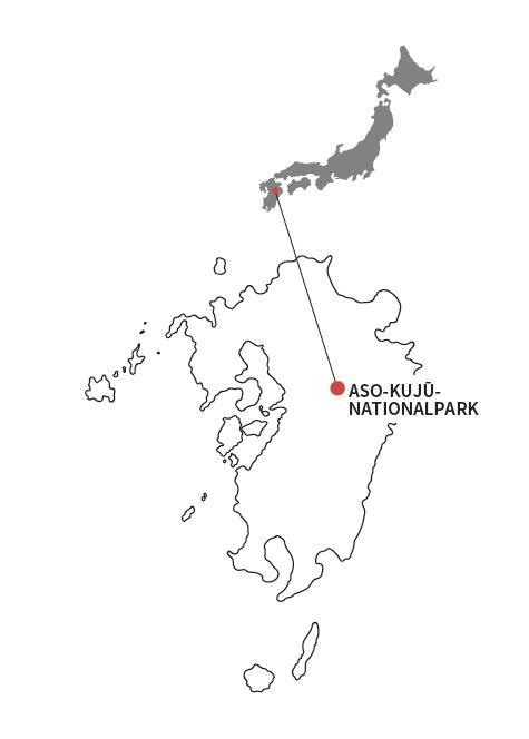 Karte vom Aso-Kujū-Nationalpark