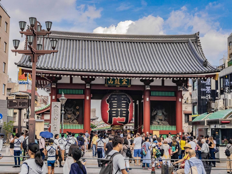 Vorderansicht des Donnertors in Asakusa