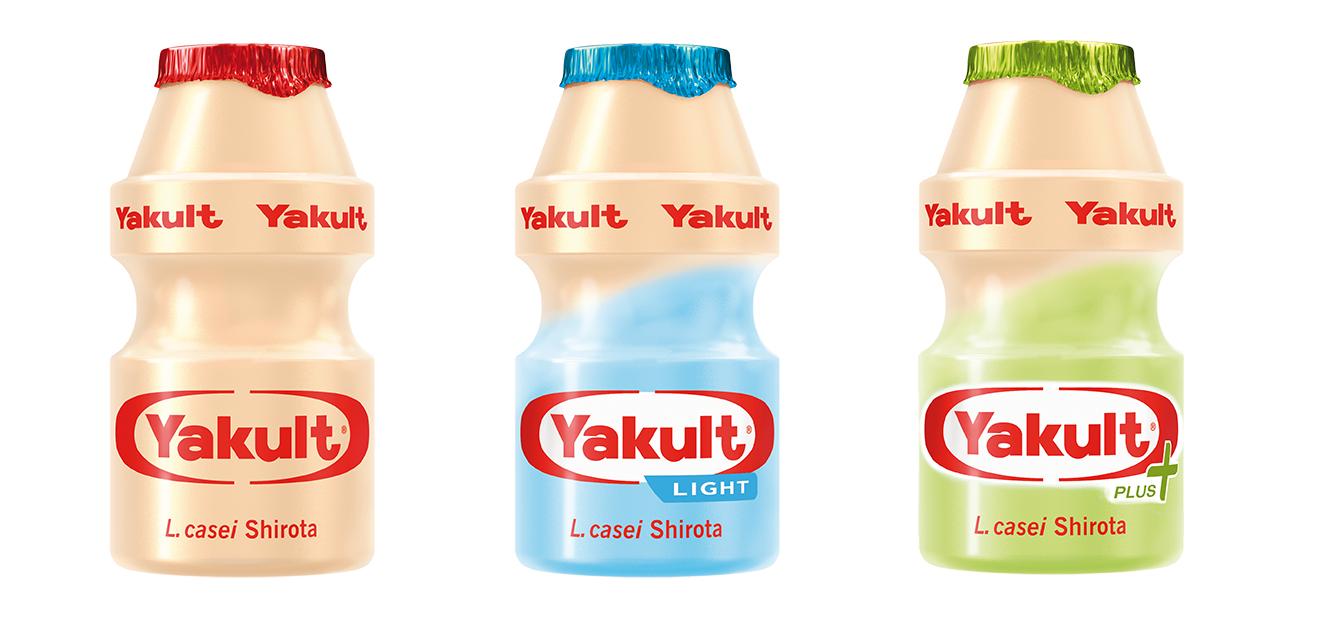3 verschiedene Yakult-Sorten