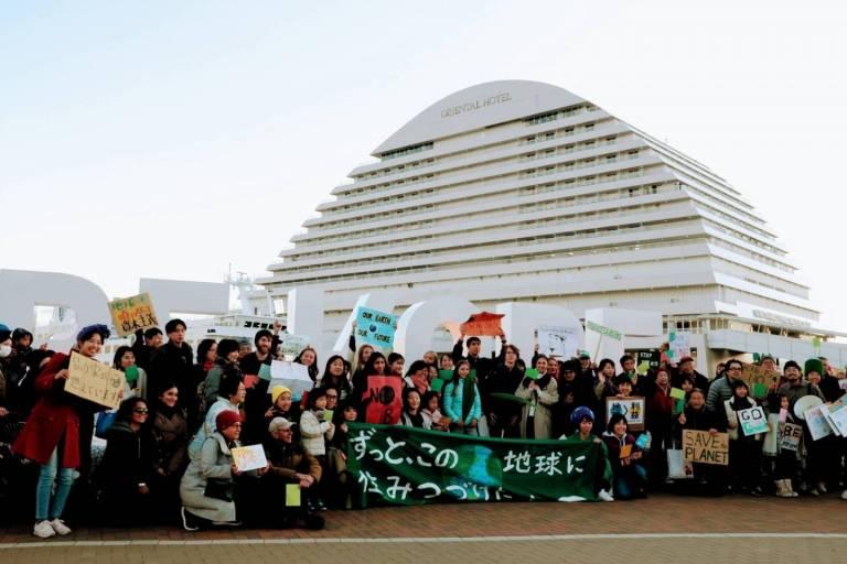 Globale Klimademonstration in Kōbe