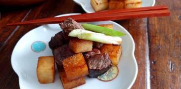 Würfel-Steak vom Rind mit Rettich