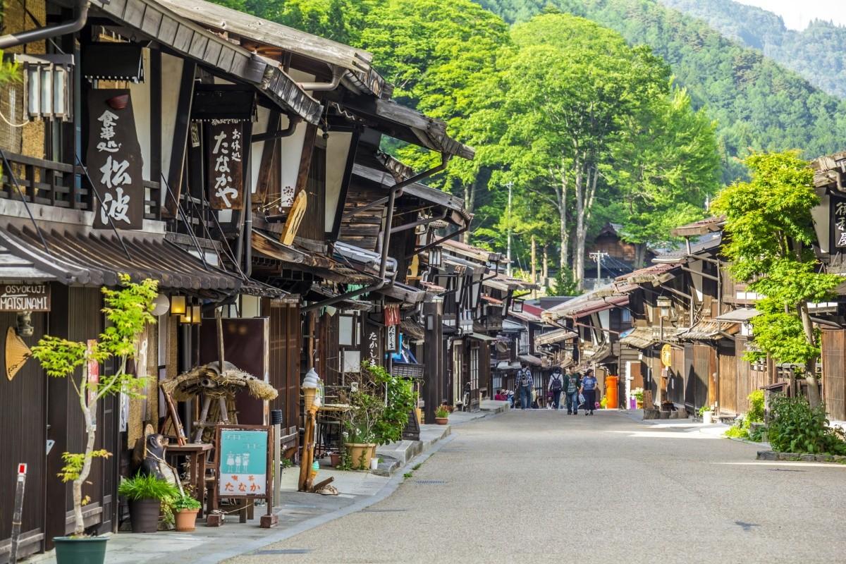 Einkaufsstraße in Kiso