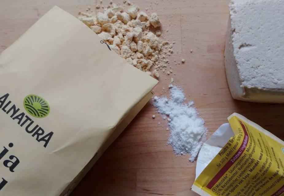 Zutaten für Tofu-Plätzchen