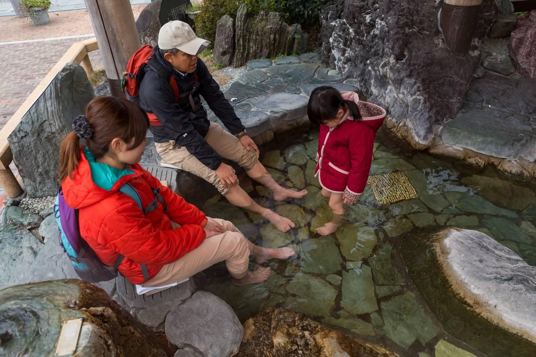 Fußbad im Siebold-no-yu-Badehaus