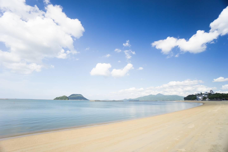 Strand und Meer in Karatsu