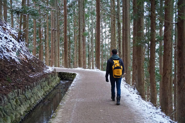 Schneeschuh-Wanderung in Nagano