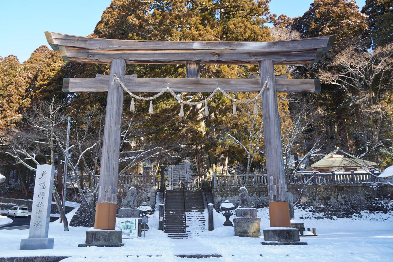 Torii vorm Togakushi Chusha-Schrein