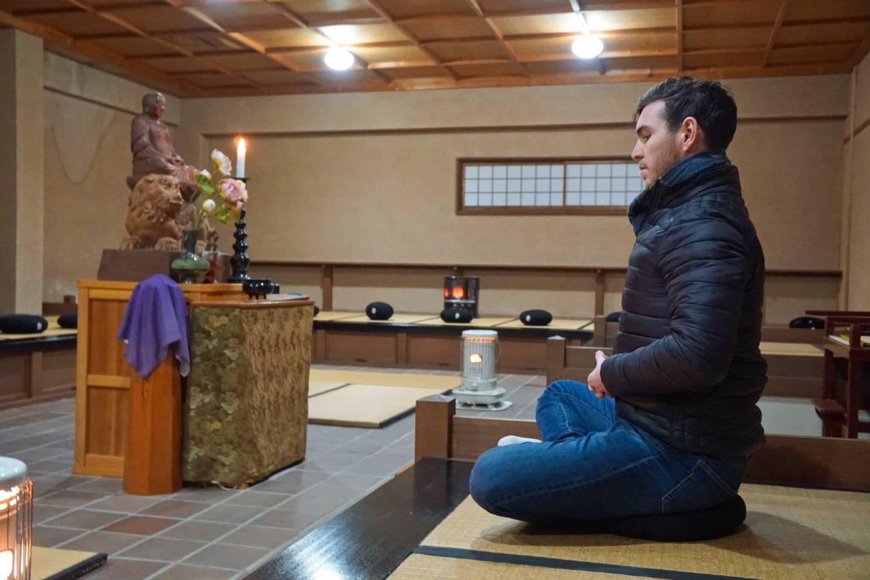 Zen-Meditation im Tempel Zennōji