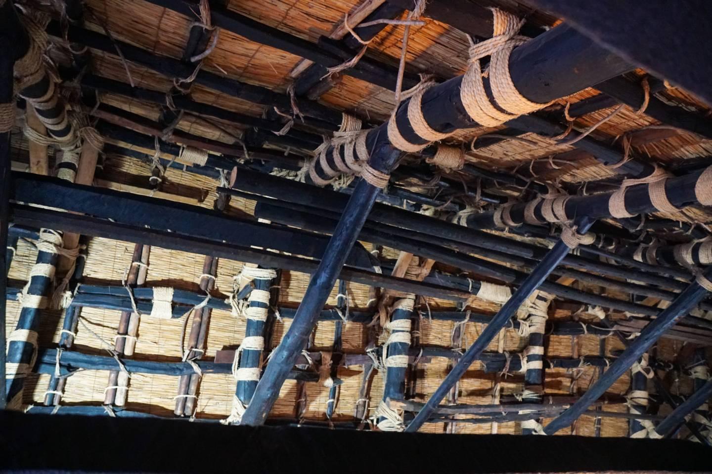 Dach des Wada-Haus von Innen