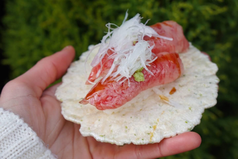 Rindfleisch-Sushi