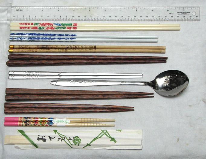 Viele verschiedene Arten von Stäbchen Asiens