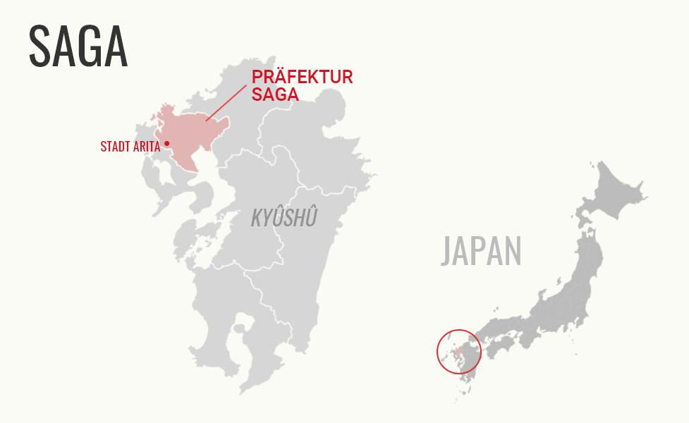 Karte Präfektur Saga