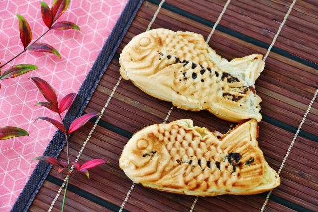 Taiyaki (Gebäck in Fischform)