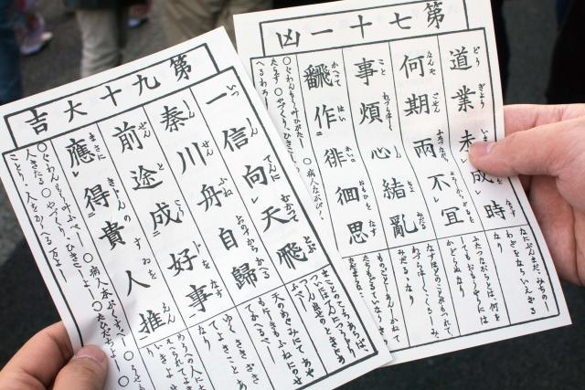 Beispiele für Omikuji