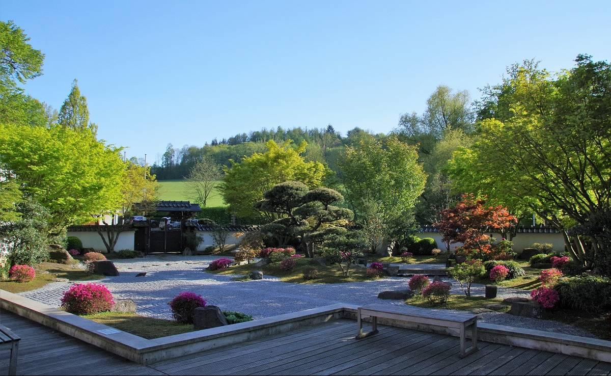 Der japanische Garten in Bielefeld.