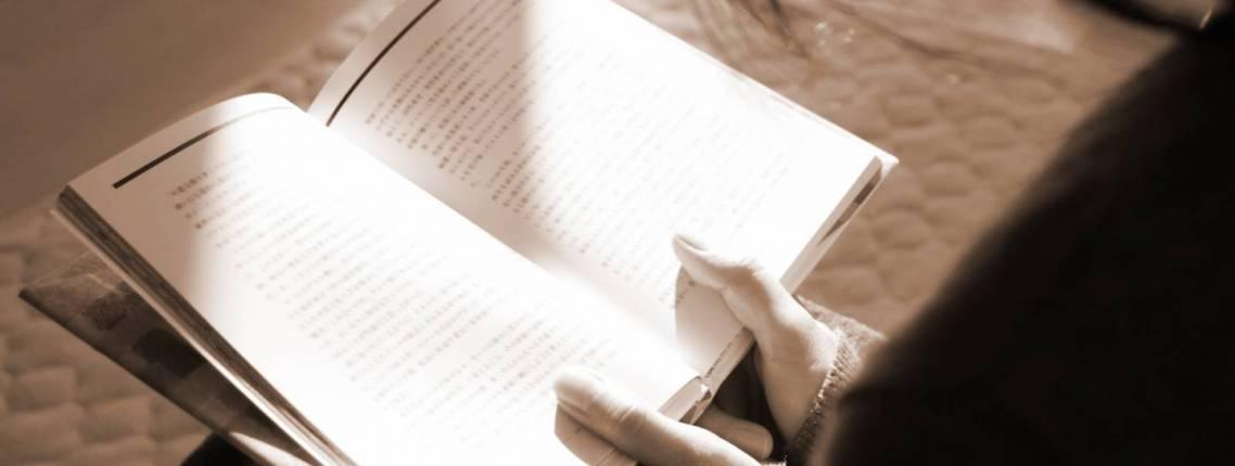 Buch lesen in Nahaufnahme