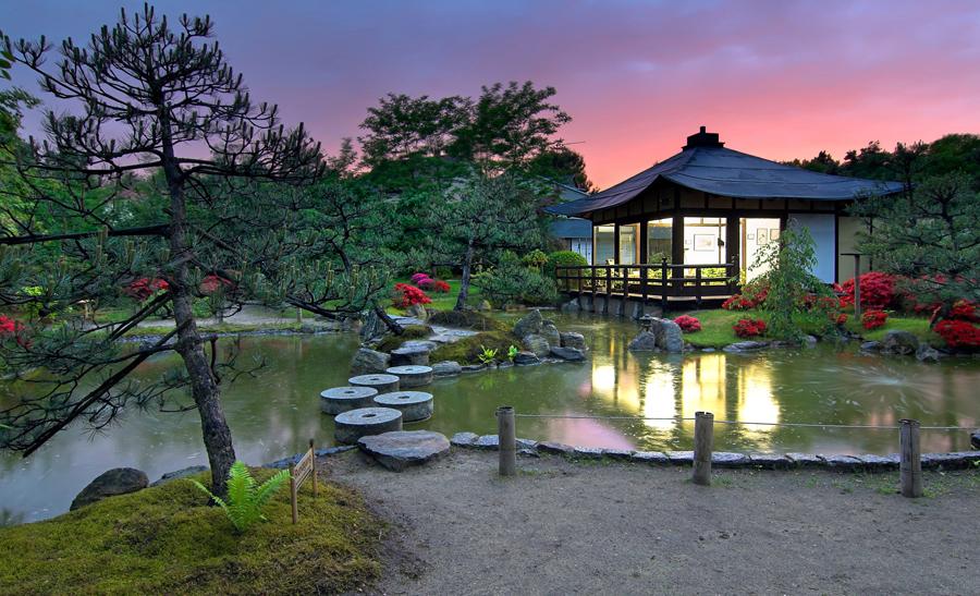 Japanischer Bonsaigarten in Schielowsee