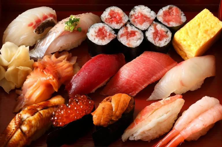 allerlei Sushi-Sorten