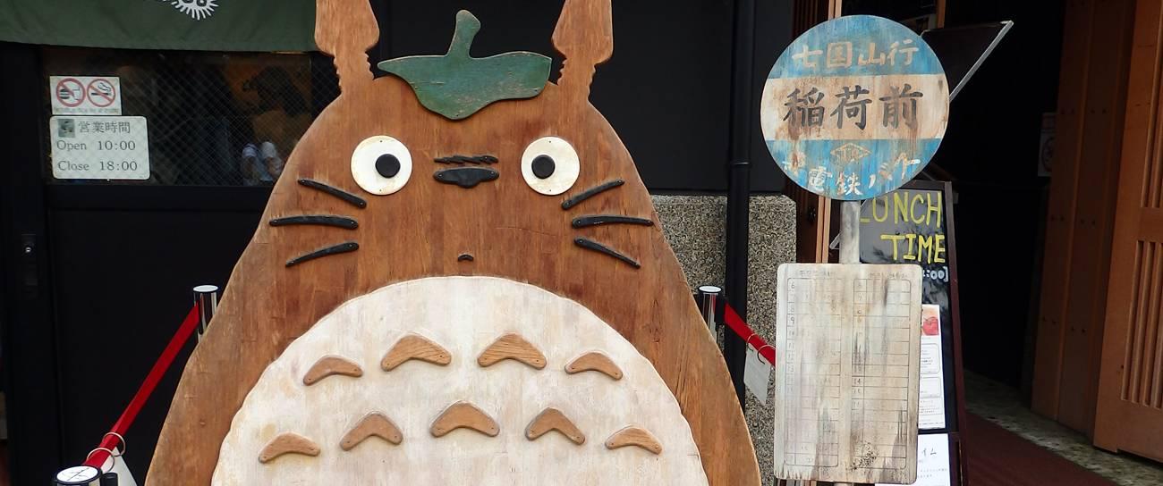 Totoro-Straßenschild in Japan