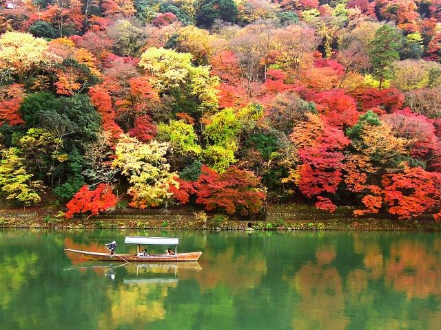 Herbstlaubfärbung in Arashiyama