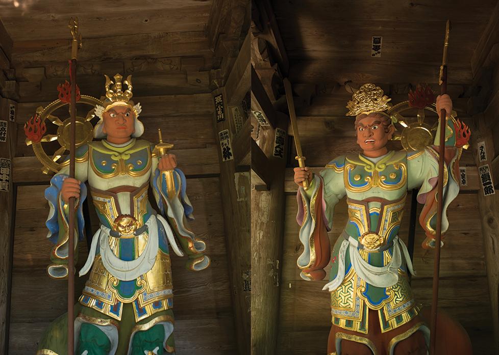 Statuen der Gottheiten Agyô und Ungyô