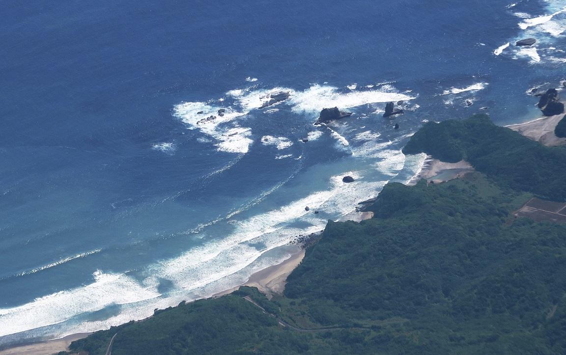 Strand auf Yakushima von oben